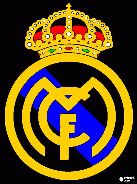 real madrid colors real madrid emblem coloring pages