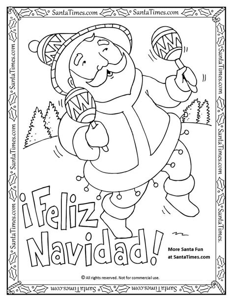 printable christmas coloring pages in spanish 75 best printable christmas coloring and activity pages