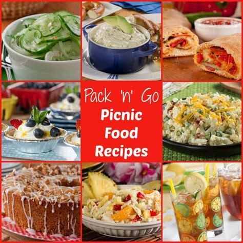 pack n go picnic food ideas free ecookbook mrfood com