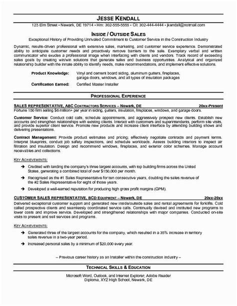 resume format sles 2017 outside sales resume template resume builder