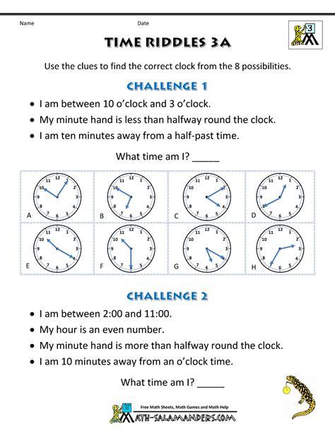 printable time zone worksheets printable time worksheets time riddles easier