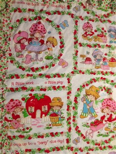 strawberry shortcake curtains strawberry shortcake vintage curtain set fabric material