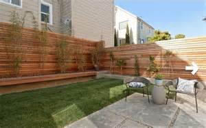 Modern Backyard With Fence Wood Fence Pinterest