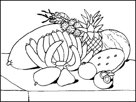 free coloring pages of still life fruit