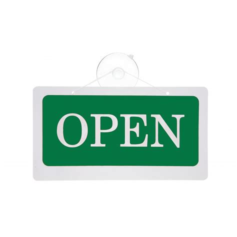 open closed reversible hanging door sign shopfitting