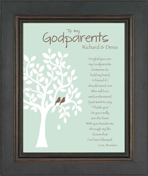 awesome godparents godparents personalized gift custom gift by kreationsbymarilyn 15 00 communions and baptisms