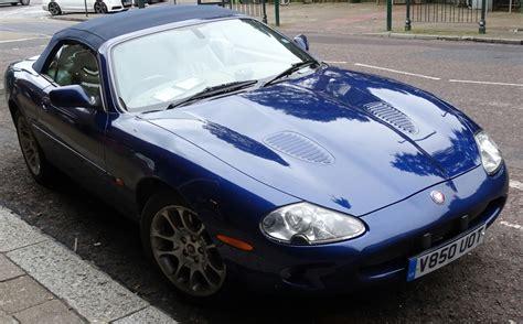 Jaguar Blue blue jaguar convertible car free stock photo