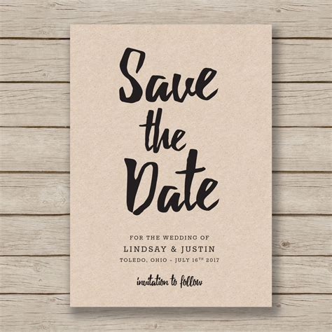 Save The Date Template Editable By You In Word Diy Wedding Save The Date Template Word