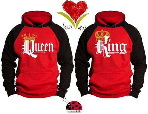 Matching Jackets For Couples New King Hoodie Matching Hoodies Sweatshirts