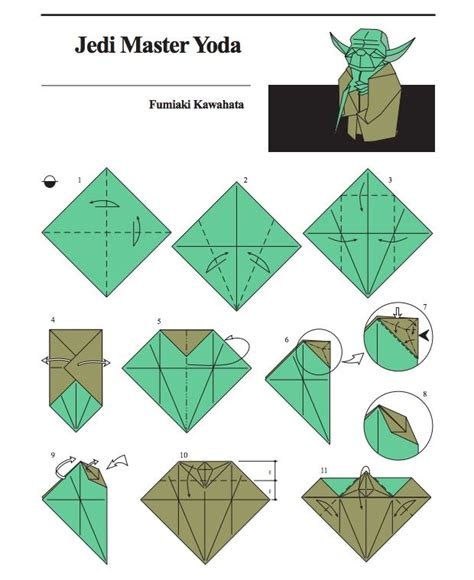 Origami Wars Characters - yoda origami directions lessons origami