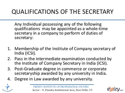 section 45 of the companies act corporate law company secretary
