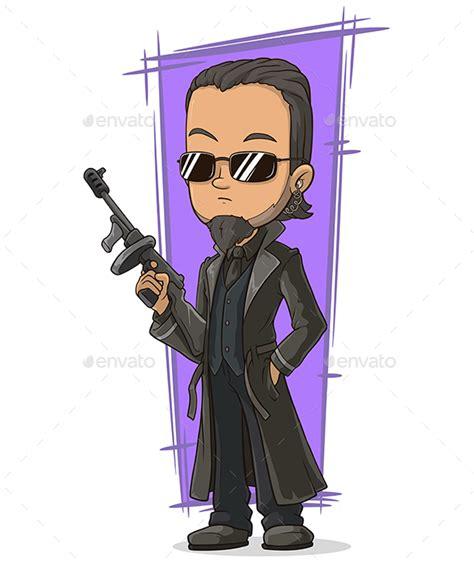 killer gun cool killer with gun by gb art graphicriver