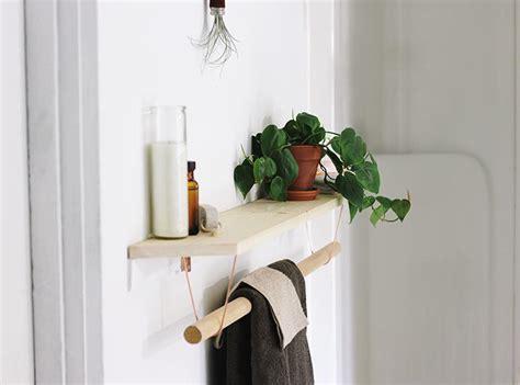 modern wood towel rack  shelf diyideacentercom