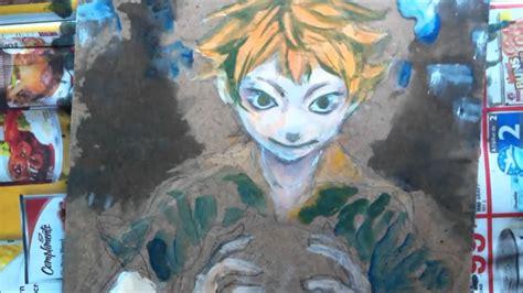 acrylic painting anime anime acrylic painting haikyuu hinata