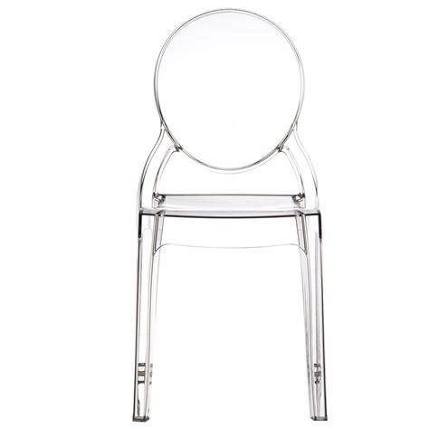 sedie in policarbonato sedia in policarbonato trasparente schienale rotondo