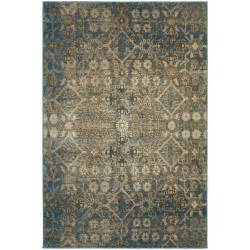 faded traditional beige blue rug 5 3 quot x 7 6 quot ebay