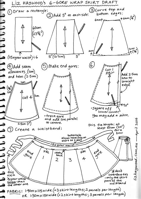 Free Pattern Wraparound Skirt The Craft Of Clothes Template To Sew