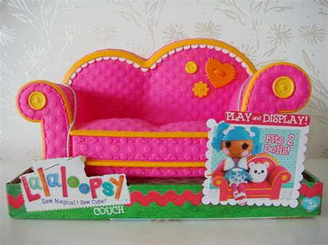 lalaloopsy sofa new lalaloopsy pink with orange trim couch fits 2 dolls 12