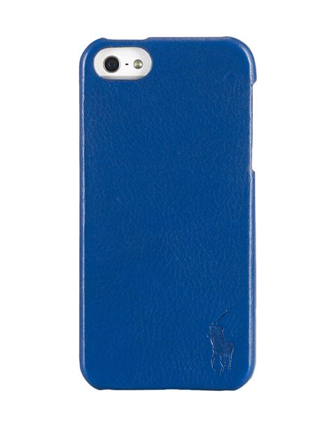 Fossil Hardcase Iphone 5 polo ralph pebbled leather iphone in blue