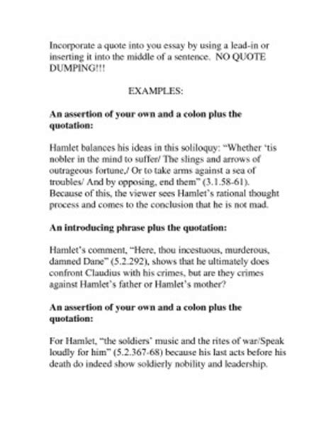 How To Start An Essay With A Quote Exle by Essay Quotes Quotesgram
