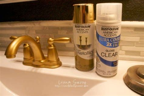 how to spray paint a bathroom faucet from living savvy