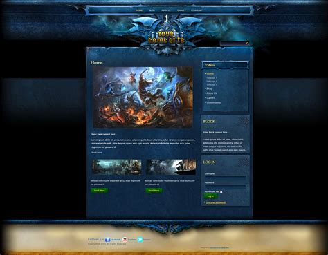 html game themes craft fantasy joomla template