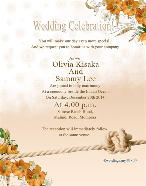 wedding invitation wording reception to follow at same location wedding invitation wording sles wordings and messages