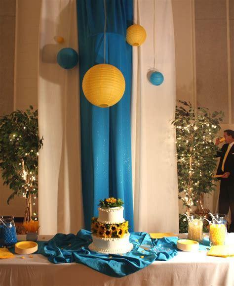Cute way to hide basketball hoops.   Wedding Reception