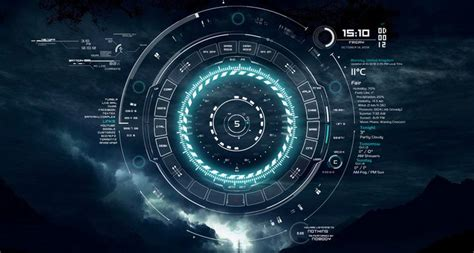 wallpaper engine and rainmeter rainmeter skins teal tech a neon ring by ayumu