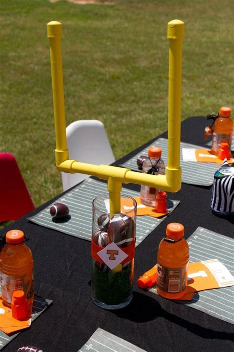 sports themed table decorations are you ready for some football birthdays