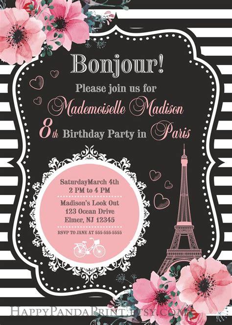 17 best ideas about paris invitations on pinterest paris