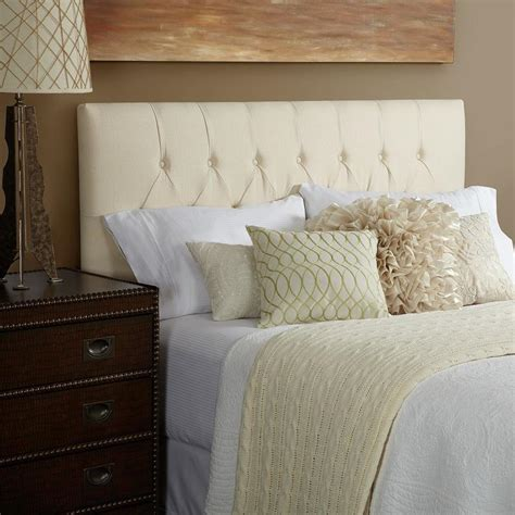 Ivory Tufted Headboard by Humble Haute Harlow Linen Tufted