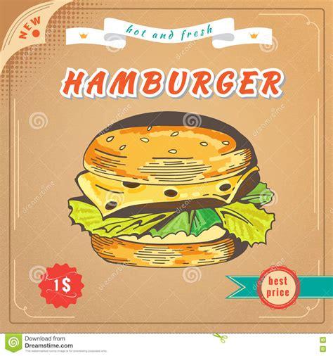 design banner burger fast food image hamburger banner stock vector