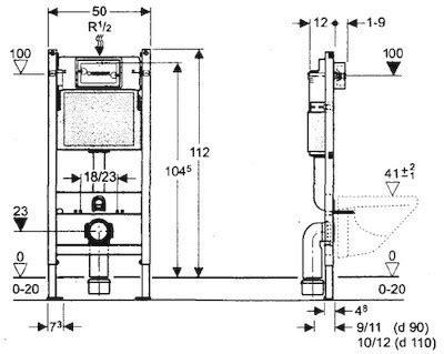 cassetta wc per cer b 226 ti support geberit duofix basic spk up100 delta 50