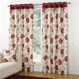Floral Design Curtains Casa Floral Trail Design Ring Top Eyelet Lined Readymade Curtains Ebay