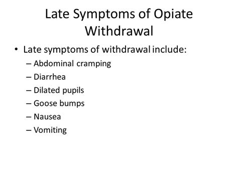Is Diarrhea A Normal Symptom Of Detox by Complications Of Opiate Therapy Ppt