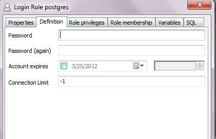 windows reset postgres password pgadmin graphically change postgres admin password