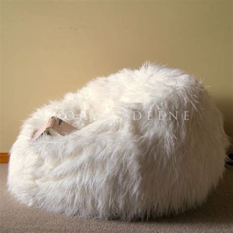 shaggy bean bag chair large lush soft shaggy fur bean bag cloud chair beanbag