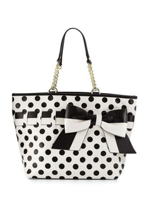 betsey johnson gift me baby polka dot tote bag