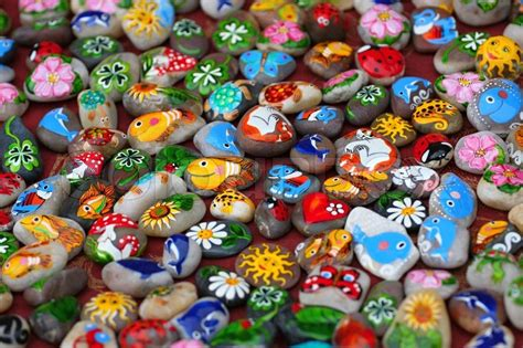 and animal motifs colorful stones applications some designers offer color images on the stones symbols characters and
