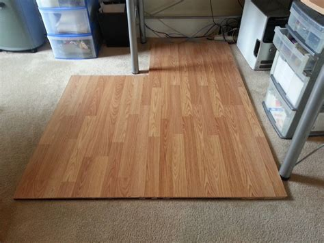 Laminate Flooring Chairmat : DIY