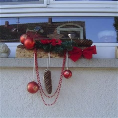 Fensterbank Draussen by Weihnachtsdeko F 252 R Die Fensterbank Drau 223 En