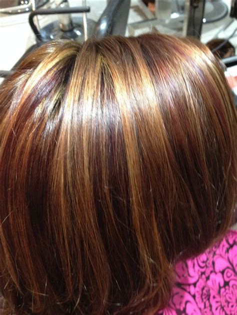 color placement red brown brown red red violet lowlights and blonde highlights my
