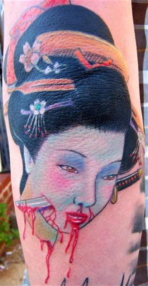 tattoo geisha head geisha tattoo japaneseinked com