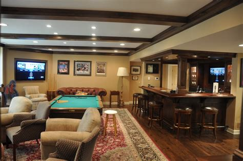 North Shore Rec Room Traditional Home Theater chicago by Mills Custom Audio/Video