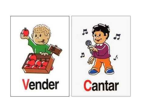 imagenes ingles verbos dibujos verbos
