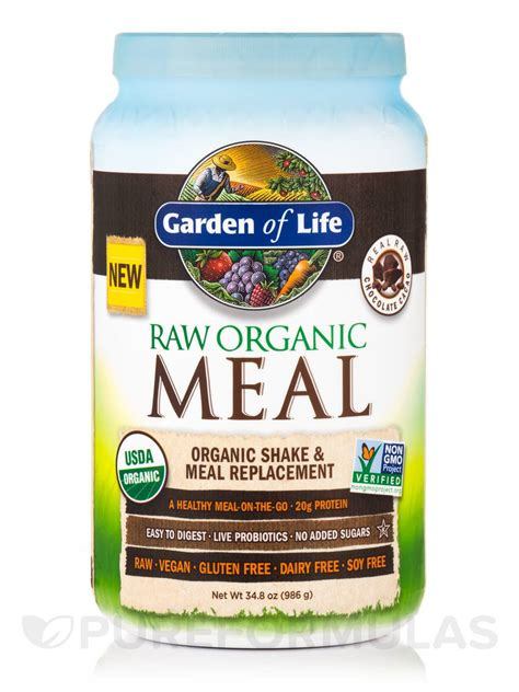 Garden Of Organic Meal Chocolate by Organic Meal Powder Chocolate Cacao Flavor 34 8 Oz