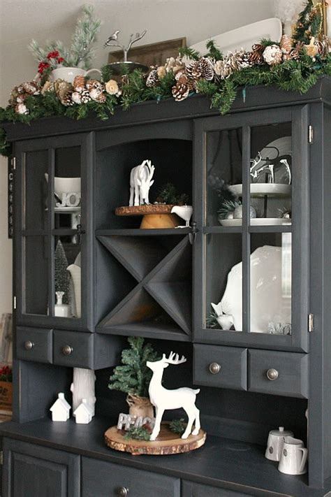 Dining Room Hutch Ideas christmas dining room clean and scentsible