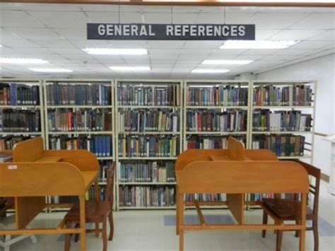 reference section in library map 250 a library