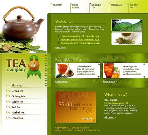 Tea Shop Website Template 14535 Products Website Templates